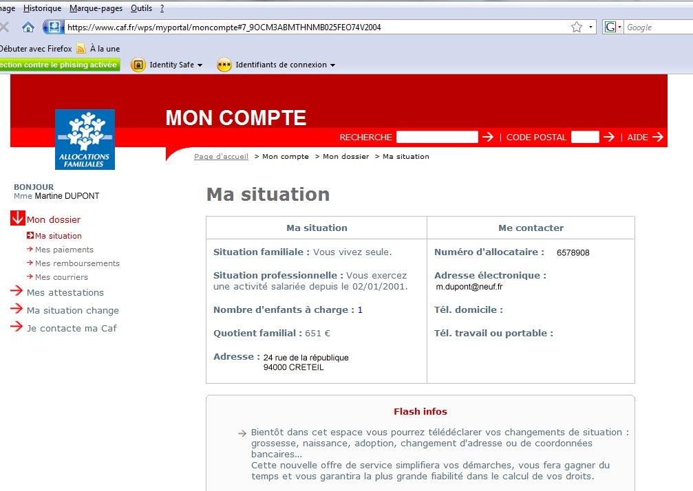 Site Caf Fr Caf Fr Mon Compte Poitiers